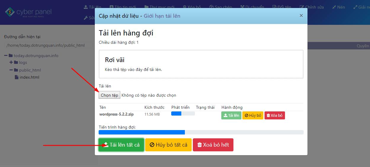 Tạo gói và thiết lập website Cyber Panel