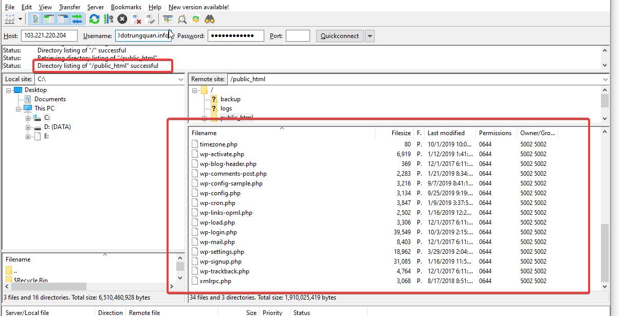 Hướng dẫn tạo tài khoản FTP trên DirectAdmin