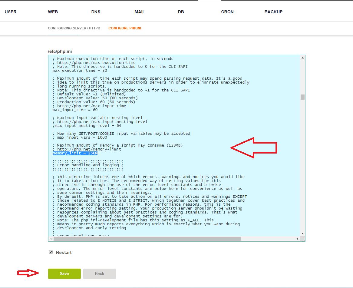 edit php vestacp 4
