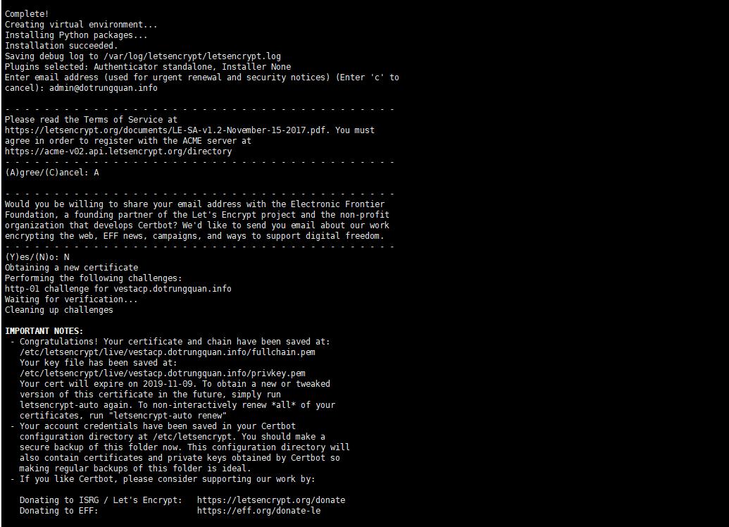 ssl admin vestaCP1