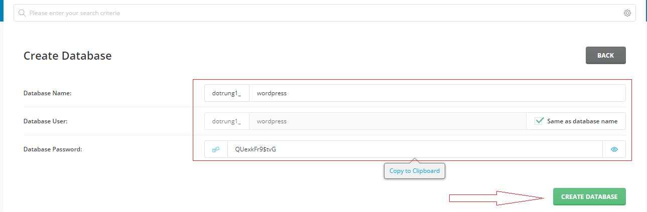 Cài đặt Wordpress lên directadmin