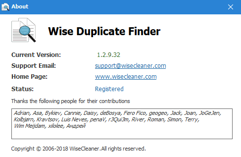hotropc wise duplicate finder pro about