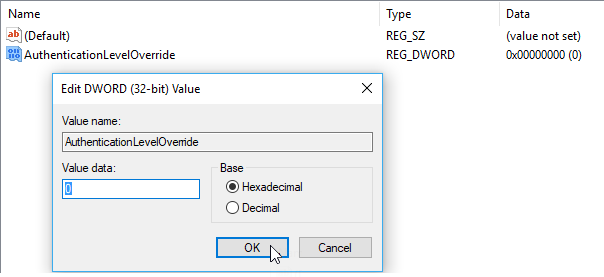 Bỏ thông báo xác thực mỗi khi remote desktop