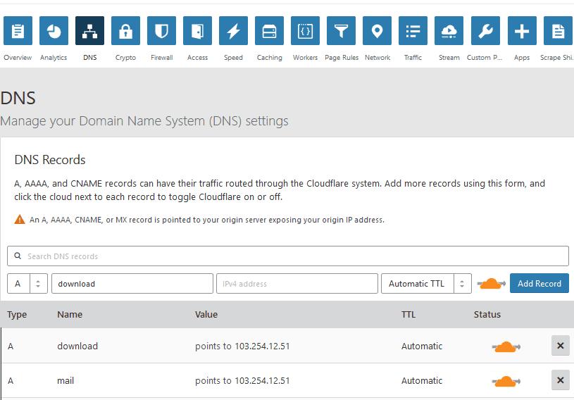 Hướng dẫn sử dụng CloudFlare – Dịch vụ DNS miễn phí