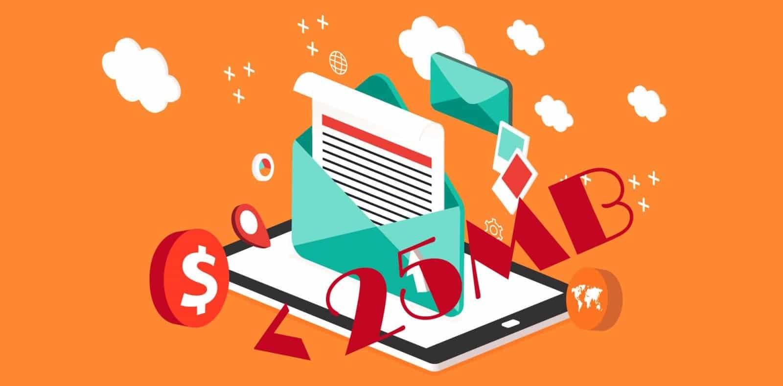 Tại sao Email lại giới hạn file đính kèm không quá 25MB?