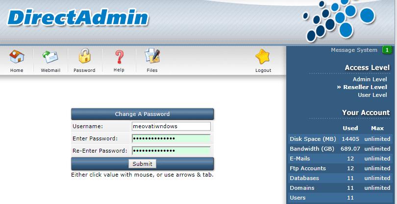 change pass user 1