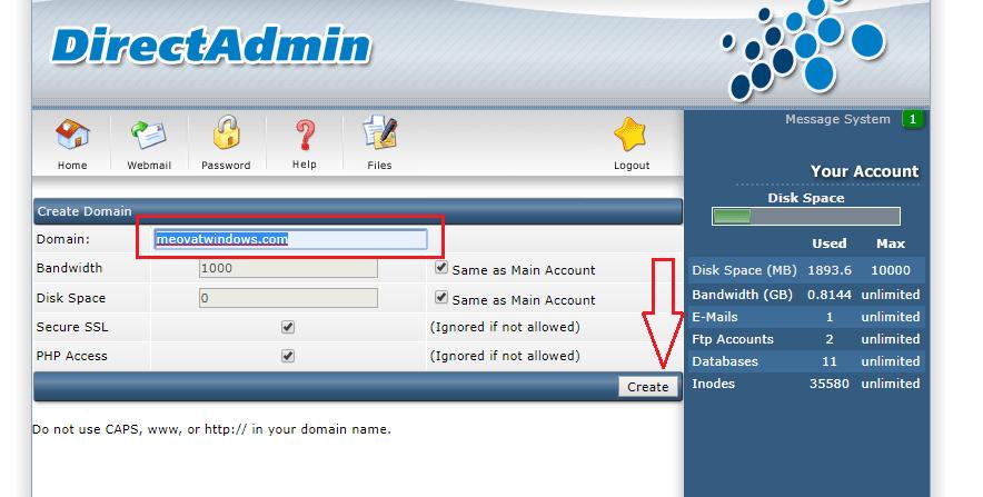 addon domain DA 3