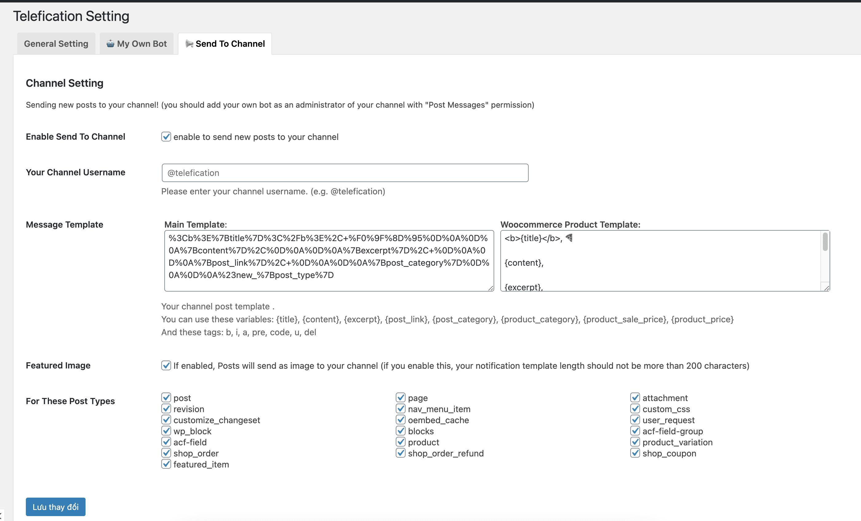 thông báo đơn hàng Woocommerce qua ứng dụng Telegram