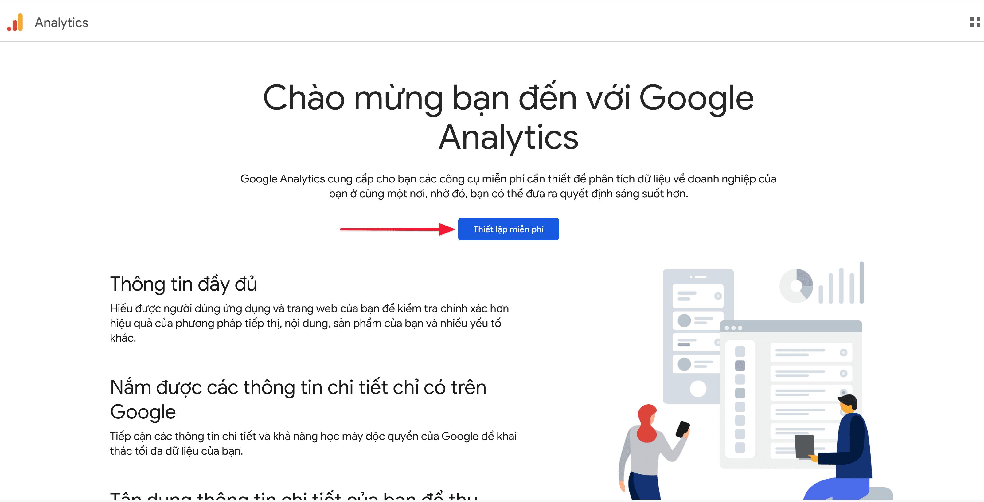 Hướng dẫn thêm website vào Google Analytics
