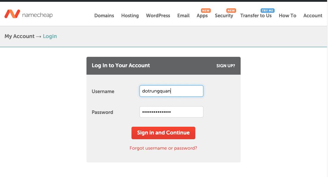 quản lý DNS domain Namecheap