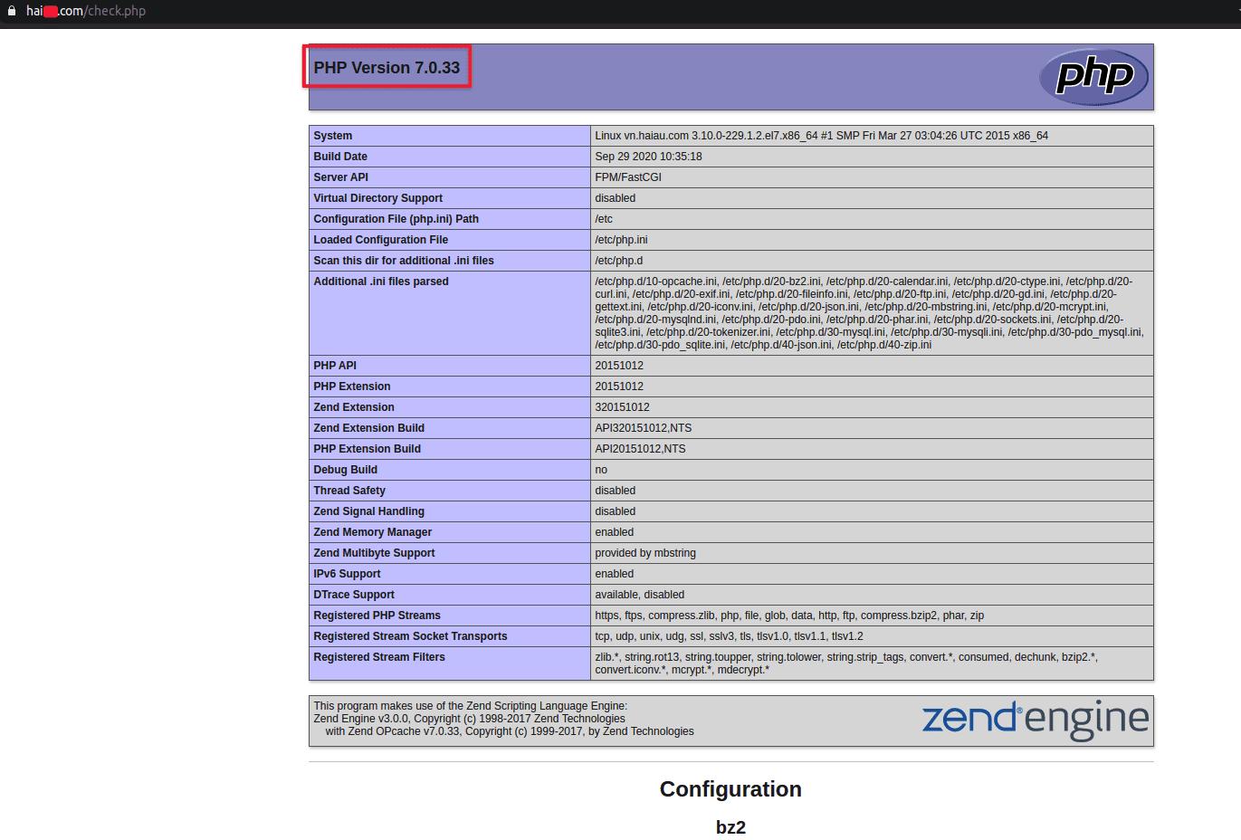 nâng cấp phiên bản PHP-FPM
