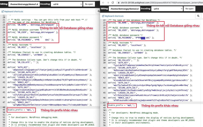 Thiết lập nhiều website sử dụng chung một tài khoản MySQL