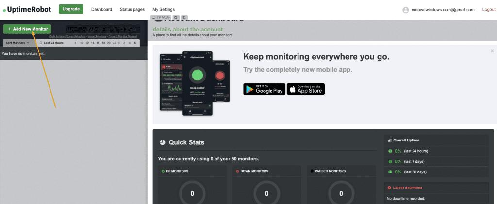 Hướng dẫn sử dụng UptimeRobot monitor website