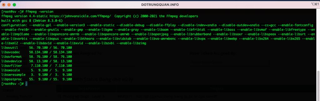 Cài đặt FFMPEG trên DirectAdmin CentOS 7