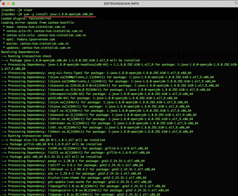 Hướng dẫn cài đặt Elasticsearch trên CentOS 7