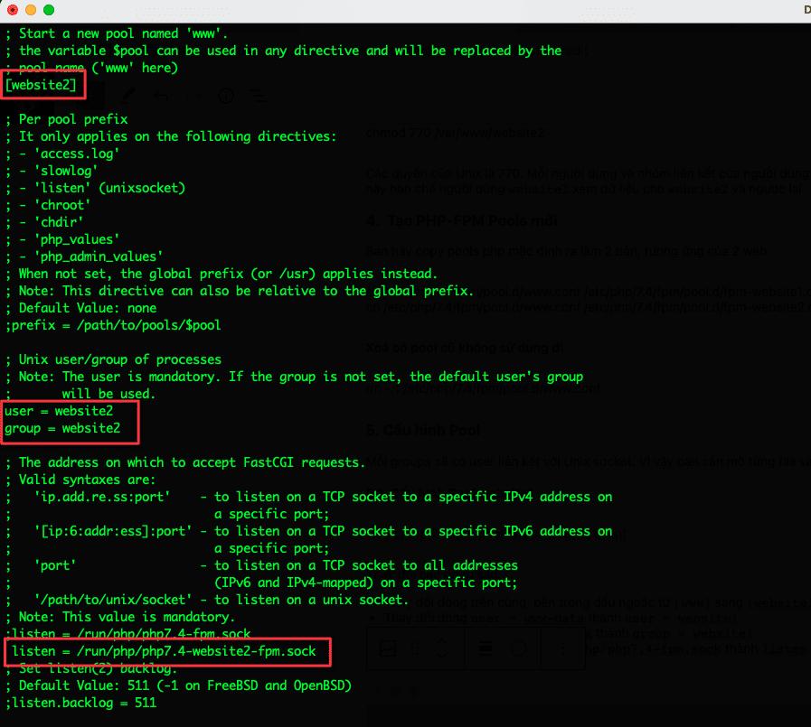 Hướng dẫn cấu hình PHP-FPM Pools để bảo mật nhiều website