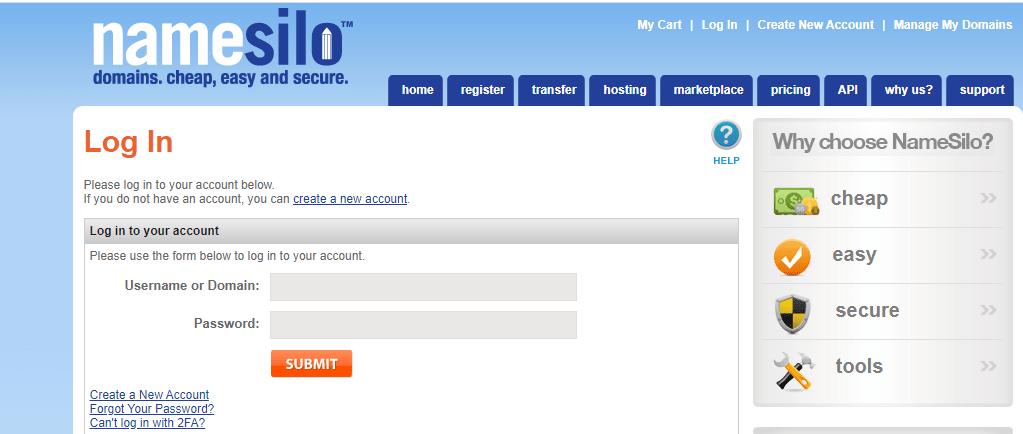dns domain namesilo 1