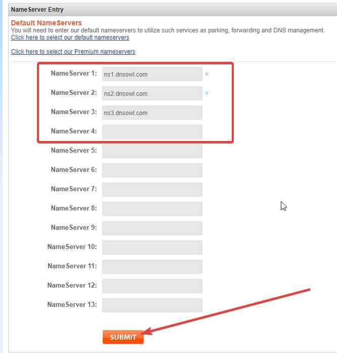 dns domain namesilo nameserver 2