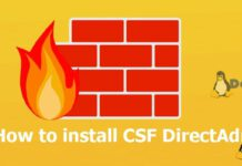 how to install csf directadmin