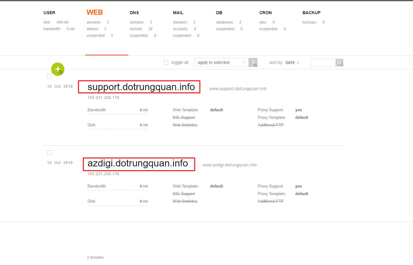 Hướng dẫn chuyển website đến user khác trên VestaCP đơn giản nhất