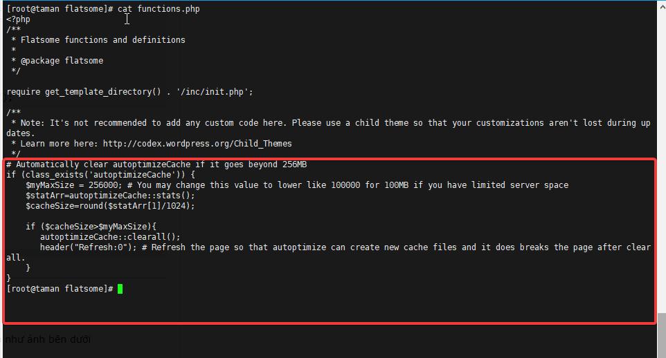 How to auto clear cache Autoptimize